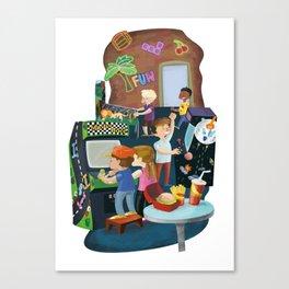 Arcade in 80's Canvas Print