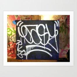 EASY///SEN 4  - GRAFFITI STREET ARTIST     (N.Y.C) REAL LIVE BOMBER'S  Art Print