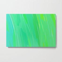 Analogous Green Cyan Metal Print