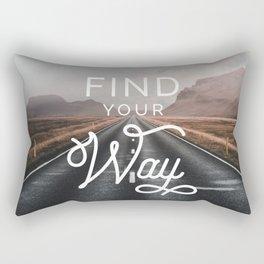 Find Your Way Rectangular Pillow