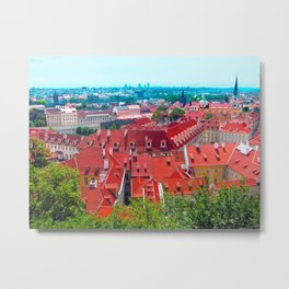rooftops of prague Metal Print