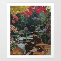 reading Art Prints featuring reading by Eleanor Boersma