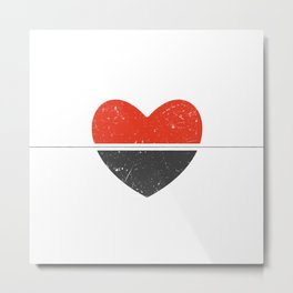 Thin line between love and hate Metal Print