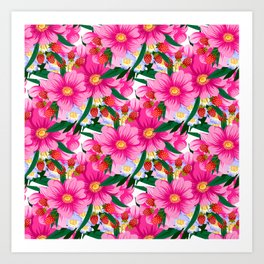 Beauty colorful floral pattern Art Print