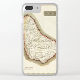 Map Of Barbados 1817 Clear iPhone Case