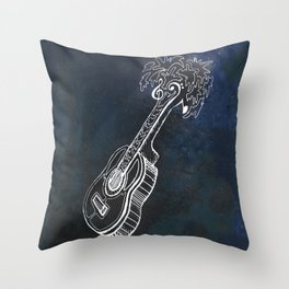 Music is Our Vacation Throw Pillow