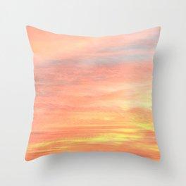 Orange Sky Throw Pillow