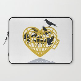Love Cage Gold Heart Laptop Sleeve