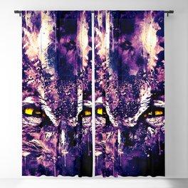 great horned owl bird close up wsfn Blackout Curtain