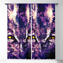great horned owl bird close up wsfn Blackout Curtain