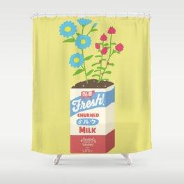Milk Flowers Shower Curtain