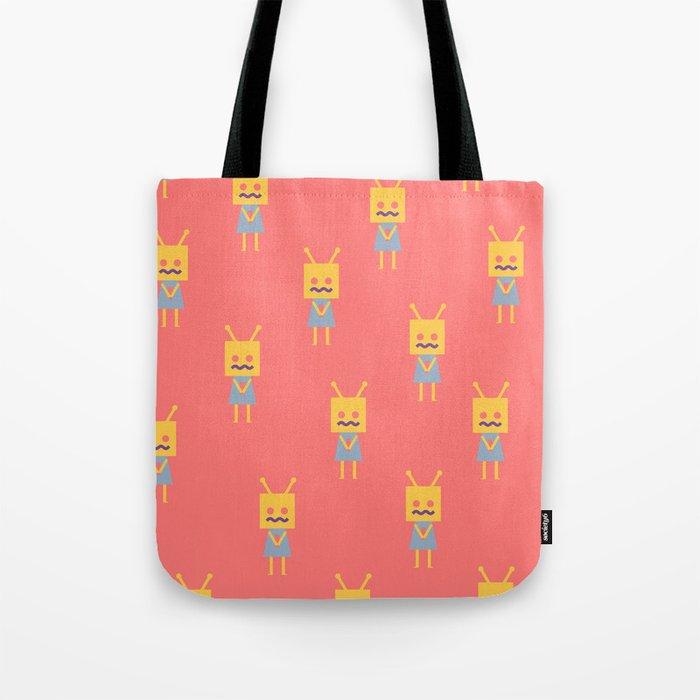 Shy Little Robot Tote Bag