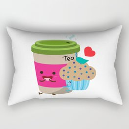 Tea and Muffin Rectangular Pillow