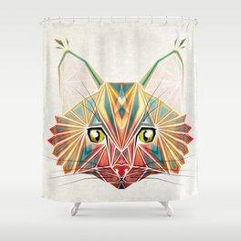 savage cat Shower Curtain