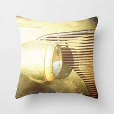 Vintage Headlamp Throw Pillow