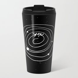 """Solar system Art """"YOU and the UNIVERSE"""" Metal Travel Mug"""