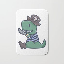 Pirate Dinosaur T-Rex Skull Captain Gift Bath Mat