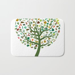 Autumn Leaves - Tree Hugger Design Bath Mat