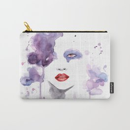 Red Eyes Red Lips two Carry-All Pouch