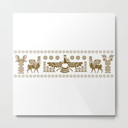 The Apadana or Audience Hall of Persepolis Design Metal Print