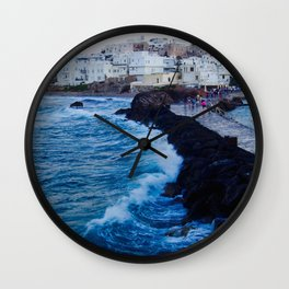 Greek Ilsand Waves Wall Clock
