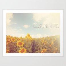 Bohemian Sunflowers Art Print