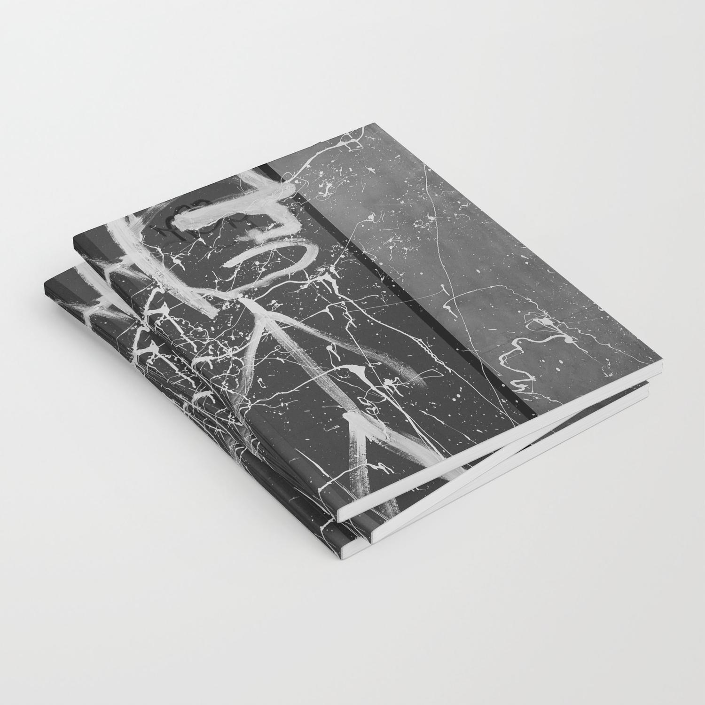 Photo Noir Et Blanc Design graffiti noir et blanc notebook