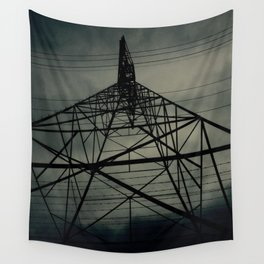 Power Lines Wall Tapestry