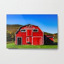 Red Barn. New England. USA Metal Print