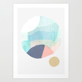 ver 2 curves abstract102 Art Print