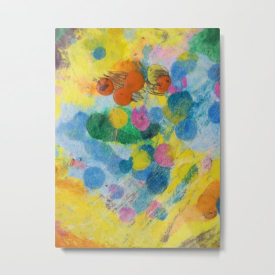 Crayon Love: The Melting Dot Metal Print
