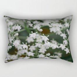 Small little white flowers Rectangular Pillow