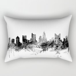 Columbus Ohio Skyline Rectangular Pillow