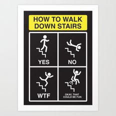 Stair Safety Art Print
