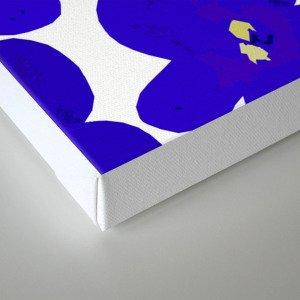 Blue Retro Flowers Canvas Print