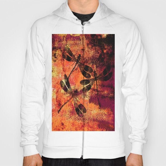 Black Dragonflies Hoody