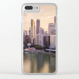 City of Singapore at sunset Clear iPhone Case