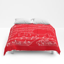Moonlight Sonata Red Comforters