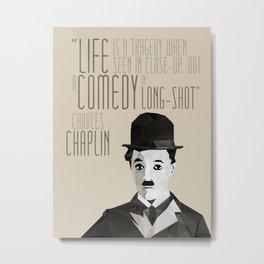 Chaplin Scomposition Metal Print