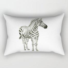 Zebra Watercolor Baby Animals Rectangular Pillow