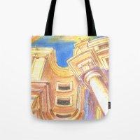 baroque Tote Bags featuring baroque by Tereza Del Pilar
