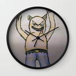 Killer cat Wall Clock