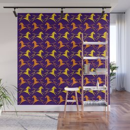 Horse Nation Purple Gold Wall Mural