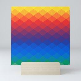 Polygonal Rainbow Mini Art Print