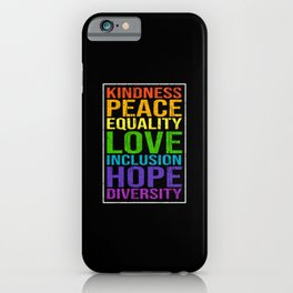 Peace Love Saying iPhone Case