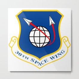 Space Force - Space Wing Metal Print