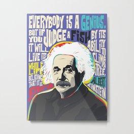 Albert Einstein Art, Print, Poster, Einstein Quotes, Celebritiy, Portrait Pop Art, Pic Metal Print