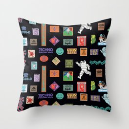 Stamps Pattern Throw Pillow