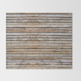 Wood Effects Raw Wood Log Cabin Lodge Rustic Throw Blanket