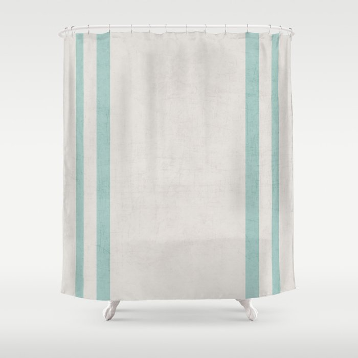 French Linen Robins Egg Blue Shower Curtain By Herart